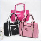 CLICK HERE - see large tote bag collection (personalized with monogram name or initials)